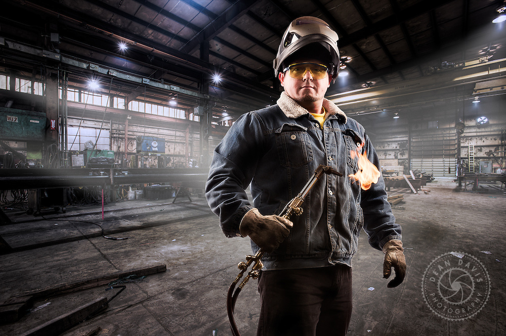mage by Dean Davis: This badass dude with a great beard is a steelworker I photographed at Metals Fab, a steel fabrication company located in Airway Heights just outside Spokane Washington. He's a welder with crazy skills.