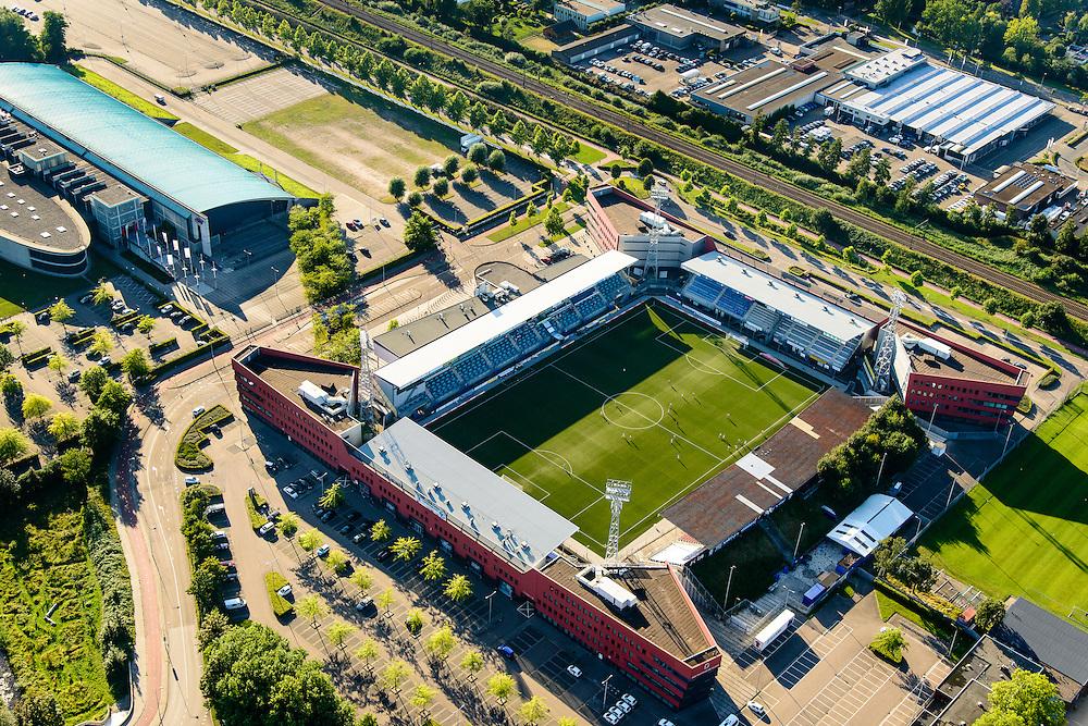 Nederland, Noord-Brabant, Den Bosch, 23-08-2016; stadion De Vliert van FC Den Bosch.<br /> The stadium Vliert Football club FC Den Bosch.<br /> luchtfoto (toeslag op standard tarieven);<br /> aerial photo (additional fee required);<br /> copyright foto/photo Siebe Swart