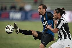 Bari (BA) 21.07.2012 - Trofeo Tim 2012. Inter - Juventus. Nella Foto: Caceres (J) e Palacio (I)