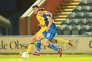 Ian Henderson bursts forward during the EFL Sky Bet League 1 match between Rochdale and Bristol Rovers at Spotland, Rochdale, England on 2 October 2018.
