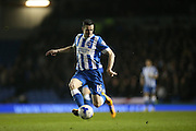 Brighton winger, Jamie Murphy (15) during the Sky Bet Championship match between Brighton and Hove Albion and Sheffield Wednesday at the American Express Community Stadium, Brighton and Hove, England on 8 March 2016.