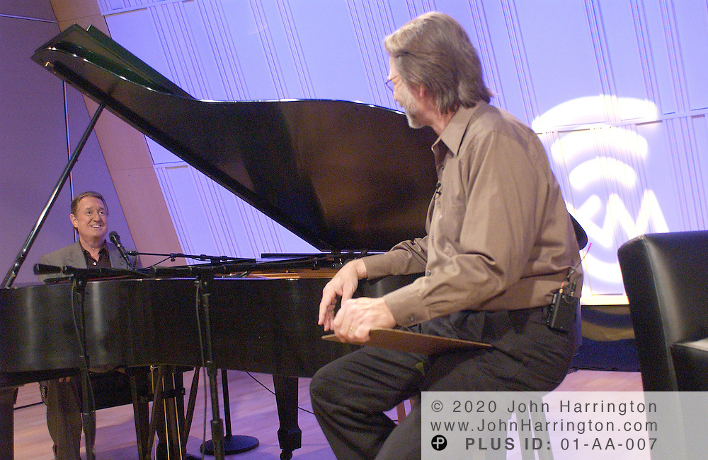 Neil Sedaka, singer songwriter whose career dates back to 1958 when he released Neil Sedaka and the Tokens and Coins LP, performs at XM on Tuesday May 11, 2004.