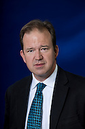 British Conservative party politician and parliamentarian Jesse Norman MP, pictured at the Edinburgh International Book Festival where he talked about the life of 18th century British thinker Edmund Burke. The three-week event is the world's biggest literary festival and is held during the annual Edinburgh Festival. The 2013 event featured talks and presentations by more than 500 authors from around the world and was the 30th edition of the festival.