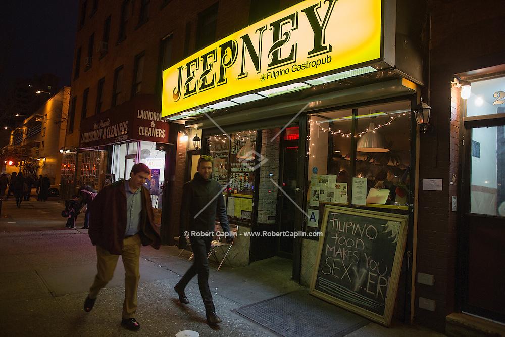Jeepney, a Filipino restaurant in New York...Photo by Robert Caplin..