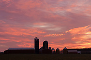 Colorful clouds before dawn at Smiley Farm in the Town of Wallkill, N.Y.,  on Nov. 25, 2019.