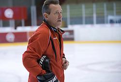 Doug Bradley, head coach of HK Acroni Jesenice ice-hockey team for season 2008/2009 at practice in Arena Podmezaklja, Jesenice, on September 24, 2008. (Photo by Vid Ponikvar / Sportal Images)