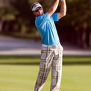PGA Tour professional Brian Gay competes at the Mayakoba Classic in Maya Riviera, Mexico where he was the defending champion on El Camaleon golf course.