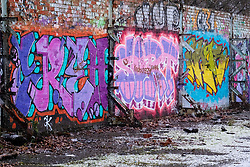 Graffiti on a derelict Industrial site between Ecclesfield and Meadowhall, just off the Trans Pennine Trail <br /> <br /> 02 January 2020<br /> <br /> www.pauldaviddrabble.co.uk<br /> All Images Copyright Paul David Drabble - <br /> All rights Reserved - <br /> Moral Rights Asserted -