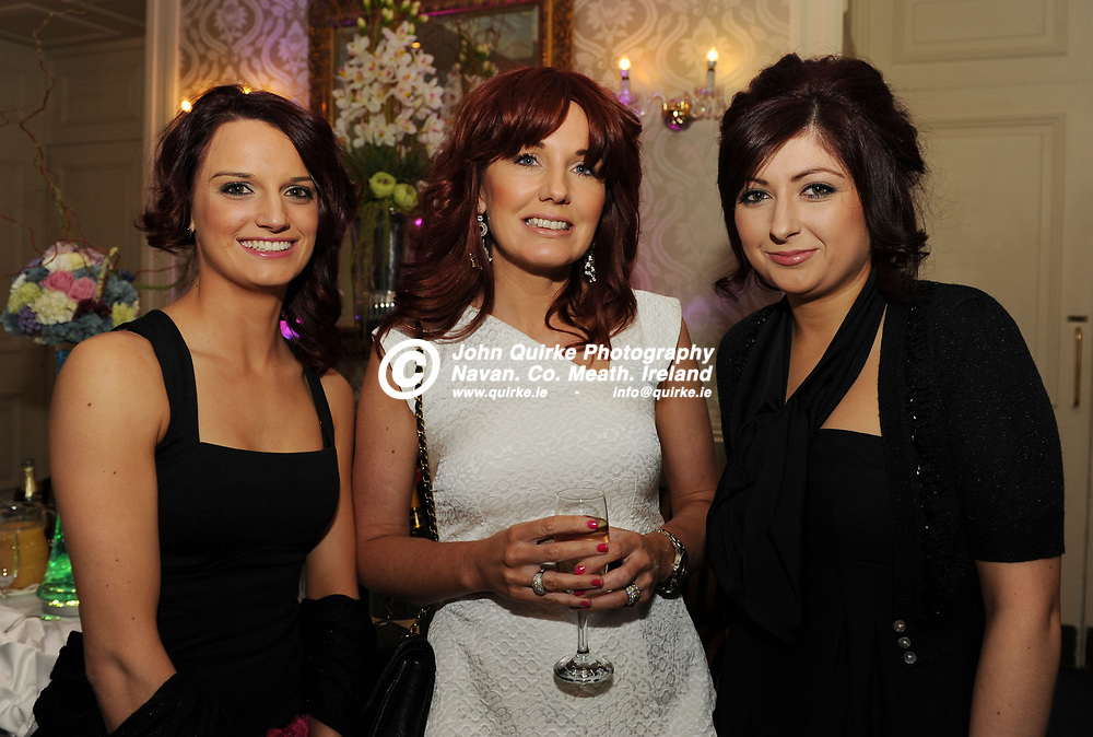 05-04-13. Meath Style Awards 2013 at the Headfort Arms Hotel, Kells.<br /> L to R: Yvonne Farrelly, Fiona Hanley and Avril Murray from Cheaveau Belle Hair Salon, Athboy.<br /> Photo: John Quirke / www.quirke.ie<br /> ©John Quirke Photography, Unit 17, Blackcastle Shopping Cte. Navan. Co. Meath. 046-9079044 / 087-2579454.