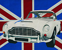 Aston Martin is a name as well known as Big Ben in London. British at its best, you could call Aston Martin's sports cars. Imagine the Aston Martin DB5 in front of the British flag, the Union Jack, could it be more British? <br /> <br /> This painting of the Aston Martin DB5 in front of the British flag can be purchased in various sizes and printed on canvas as well as wood and metal. You can also have the painting finished with an acrylic plate over it which gives it more depth.<br /> <br /> -<br /> BUY THIS PRINT AT<br /> <br /> FINE ART AMERICA<br /> ENGLISH<br /> https://janke.pixels.com/featured/aston-martin-db5-in-front-of-the-union-jack-jan-keteleer.html<br /> <br /> WADM / OH MY PRINTS<br /> DUTCH / FRENCH / GERMAN<br /> https://www.werkaandemuur.nl/nl/werk/Aston-Martin-DB5-voor-de-Union-Jack/659799/134?mediumId=1&size=70x55