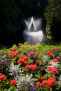 Ross Fountain at the Butchart Gardens, Victoria, Vancouver Island, British Columbia, Canada.