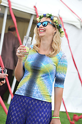 MARISSA HERMER at the Cartier Queen's Cup Polo Final, Guards Polo Club, Windsor Great Park, Berkshire, on 17th June 2012.