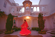 Indian dancer at Lake Palace