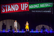 Sam Fairbain & Chante Joseph. The Peoples Assembly  presents: Stand Up Against Austerity. Live at the Hammersmith Apollo. London.