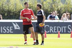 Training Swiss national football team - 28 Aug 2017