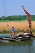 AREJP2 Sailing barge Cygnet River Alde Snape Suffolk England
