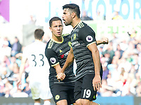 Football — 2016 / 2017 Premier League - Swansea vs Chelsea<br /> <br /> Diego Costa of Chelsea celebrates scoring his team's first goal at the Liberty Stadium.<br /> <br /> pic colorsport/winston bynorth