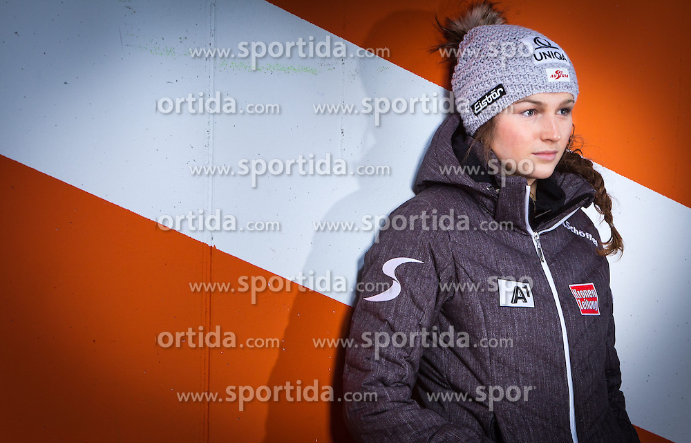14.10.2013, Intersport Bruendl, Kaprun, AUT, Bernadette Schild im Portrait, im Bild die österreichische Skirennläuferin Bernadette Schild bei einem Fototermin // the Austrian alpine skier Bernadette Schild during a photocall at the Intersport Bruendl, Kaprun, Austria on 2013/10/14. ***** EXKLUSIVES BILDMATERIAL ****** . EXPA Pictures © 2013, PhotoCredit: EXPA/ Juergen Feichter