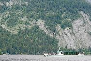 Ferry on Altausseer See, Ausseerland, Salzkammergut, Austria © Rudolf Abraham