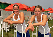 Shunyi, CHINA.  GBR W2-, left Louisa REEVE and Olivia WHITLAM,  at the 2008 Olympic Regatta, Shunyi Rowing Course. Thursday 14.08.2008  [Mandatory Credit: Peter SPURRIER, Intersport Images]