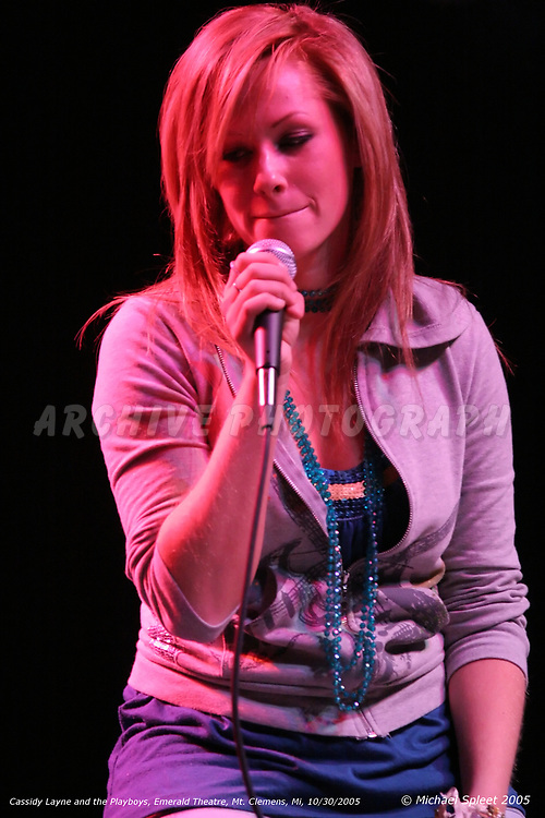MT. CLEMENS, MI, SUNDAY, OCT. 30, 2005 : Cassidy Layne and the Playboys,  at Emerald Theatre, Mt. Clemens, MI, 10/30/2005. (Image Credit: Michael Spleet / 2SnapsUp Photography)