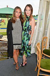 Left to right, CHLOE GREEN and ROSIE FORTESCUE at the Laureus Polo held at Ham Polo Club, Ham, Richmond, Surrey on 18th June 2015.