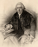 John Gregory (1724-1773) Scottish physician. Professor of philosophy at Aberdeen University (1746-1749) Professor of Medicine at Edinburgh University (1766-1773) and Physician to His Majesty in Scotland.  Engraving from 'A Biographical Dictionary of Eminent Scotsmen' by Thomas Thomson (1870).