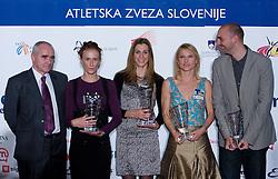 Martin Steiner, Sonja Roman, Marija Sestak, Brigita Langerholc and Matija Sestak  at Best Slovenian athlete of the year ceremony, on November 15, 2008 in Hotel Lev, Ljubljana, Slovenia. (Photo by Vid Ponikvar / Sportida)