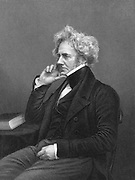 John Frederick William Herschel (1792-1871), English scientist and astronomer, c1870. Son of  the astronomer William Herschel (1738-1822), he continued his father's work, discovering hundreds of nebulae and clusters, and mapped southern skies from South Africa.  Coined the words 'photography', 'positive' and 'negative' and pioneered astronomical photography. From 'The World's Great Men' (London, c1870). Engraving.