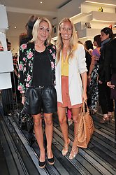 Left to right, CAMILLA STOPFORD-SACKVILLE and MARTHA WARD at the opening party for Nicholas Kirkwood's new store at 5 Mount Street, London on 12th May 2011.