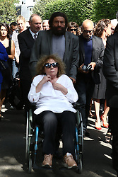 Marek Halter attending the funeral ceremony of French designer Sonia Rykiel at the Montparnasse cemetery in Paris, France on September 1, 2016. The 86 years old pioneer of Parisian womenswear from the late 1960's onwards, has died from a Parkinson's disease-related illness. Photo by ABACAPRESS.COM