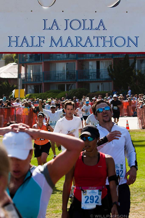 5,392 finishers kept volunteers busy at the finish line of the 13.1-mile La Jolla Half Marathon on April 26, 2009.