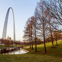 The Gateway Arch in St. Louis, Missouri. Jefferson National Expansion Memorial.