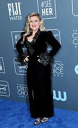 Kelly Clarkson at the 25th Annual Critics' Choice Awards held at the Barker Hangar in Santa Monica, USA on January 12, 2020.