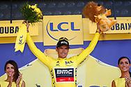 Podium, Greg Van Avermaet (BEL - BMC) yellow jersey during the 105th Tour de France 2018, Stage 9, Arras Citadelle - Roubaix (156,5km) on July 15th, 2018 - Photo Luca Bettini / BettiniPhoto / ProSportsImages / DPPI