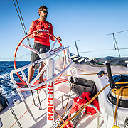 Leg 6 to Auckland, day 19 on board MAPFRE, Guillermo Altadill stearing. 25 February, 2018.