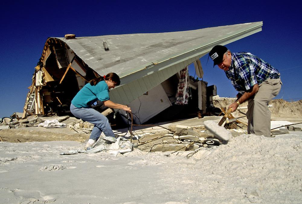 Destruction off the coast of Destin, Florida, after a hurricane
