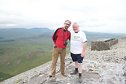 22/06/2014 Leo Moore and Sean Malone Offaly<br /> who climbed the  765 metre Croagh Patrick in Mayo as part of the 30th Anniversary Celebrations of  Self Help Africa and to support the work of Self Help Africa in 10 countries in Africa. Photo: Andrew Downes