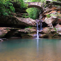 """Old Man's Cave Upper Falls""<br /> <br /> Hocking Hills Ohio."