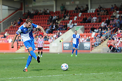 Chris Lines of Bristol Rovers takes a shot - Mandatory by-line: Dougie Allward/JMP - 25/07/2015 - SPORT - FOOTBALL - Cheltenham Town,England - Whaddon Road - Cheltenham Town v Bristol Rovers - Pre-Season Friendly