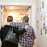 Shelly DeLux embraces Jordan Chris at Timeout Youth, an emergency shelter for LGBT youth in Charlotte, NC.