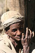 Africa, Ethiopia, Lalibela, Old Ethiopian man