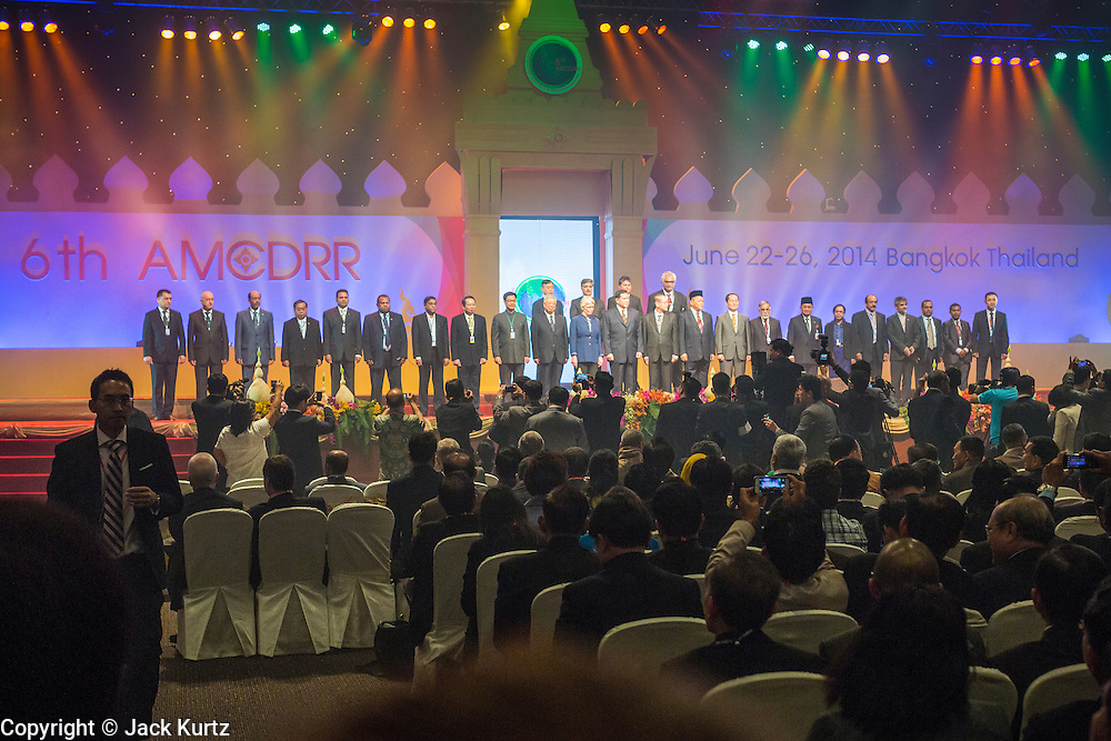 24 JUNE 2014 - BANGKOK, THAILAND: The opening ceremony of the 6th Asian Ministerial Conference on Disaster Risk Reduction (AMCDRR). The AMCDRR started in Bangkok on June 24. The first of the biennial conferences was held in Beijing in 2005 after the 2004 Asian Tsunami and H5N1 Bird Flu epidemic of 2004. The conference this year in Bangkok will focus on possible disasters related to climate change, sustainable development, and managing public private partnerships for disaster risk.     PHOTO BY JACK KURTZ