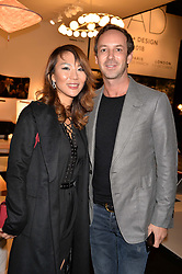 Charles Riva and Olivia Kwok at the 2017 PAD Collector's Preview, Berkeley Square, London, England. 02 October 2017.