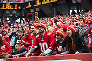 San Francisco 49ers fans react to gameplay against the Jacksonville Jaguars at Levi's Stadium in Santa Clara, Calif., on December 24, 2017. (Stan Olszewski/Special to S.F. Examiner)