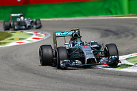 ROSBERG Nico (Ger) Mercedes Gp Mgp W05, HAMILTON Lewis (Gbr) Mercedes Gp Mgp W05 Action  during the 2014 Formula One World Championship, Italy Grand Prix from September 5th to 7th 2014 in Monza, Italy. Photo Florent Gooden / DPPI