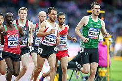 22.07.2017, Olympia Stadion, London, GBR, Leichtathletik WM der Behinderten, im Bild In Fuehrung: Michael McKillop (IRL, T37) Hinten mit der 3: Madjid Djemai (ALG). Ganz links Jonathan Sum (KEN).<br /><br />In the lead: Michael McKillop (IRL, T37) // during the World Para Athletics Championships at the Olympia Stadion in London, Great Britain on 2017/07/22. EXPA Pictures © 2017, PhotoCredit: EXPA/ Eibner-Pressefoto/ Eibner-Pressefoto<br /> <br /> *****ATTENTION - OUT of GER*****