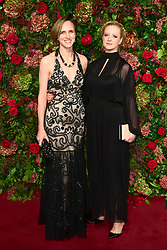 Laura Wade (right) attending the Evening Standard Theatre Awards 2018 at the Theatre Royal, Drury Lane in Covent Garden, London