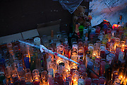 A memorial for Kimani Gray at E 55 St and Church Ave in Brooklyn, NY on Sunday, March 17, 2013...Photograph by Andrew Hinderaker