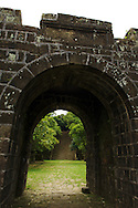The main entrance to the military camp site at Ershawan Fort (?????) in Keelung, Taiwan (?????).